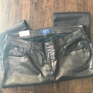 Old Navy Mr. Rock Metallic Silver jeans size 16